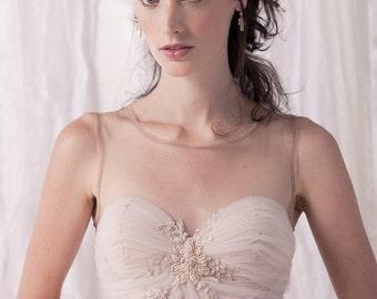 Romantic wedding dress, blush wedding dress, ballerina wedding dress, fairy wedding dress, tulle wedding dress, lace wedding dress, ballgown