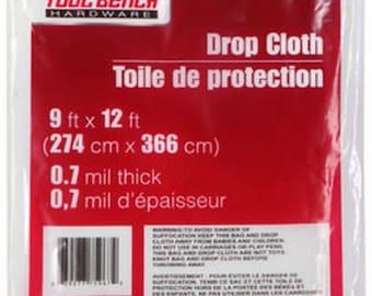 clear plastic painter drop cloth 9u0027 x 12u0027 foot 7 mil protective sheeting