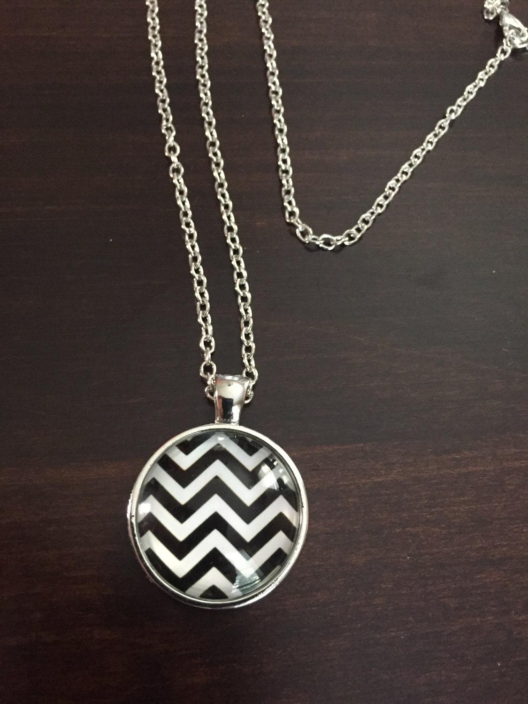 chevron necklace black necklace chevron jewelry chevron