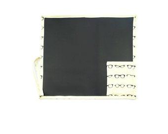 Cream Glasses Travel Chalkboard, Glasses Travel Chalkboard, Drawing Mat with Glasses, Eye Glasses Portable Blackboard
