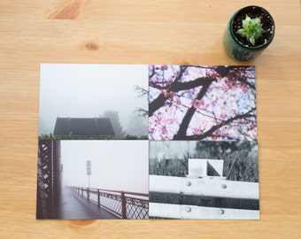 Portland Oregon Postcard set of 4, Snail mail, Pen Pals