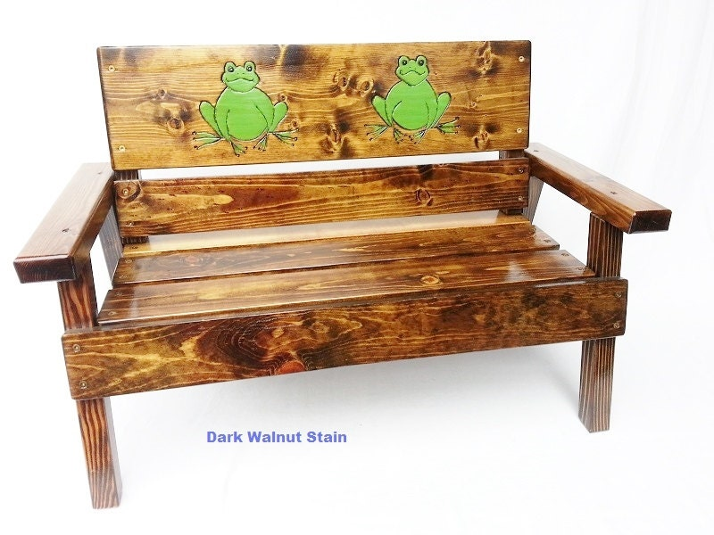 Childrens wood outdoor bench kids furniture toddler for Kids outdoor furniture
