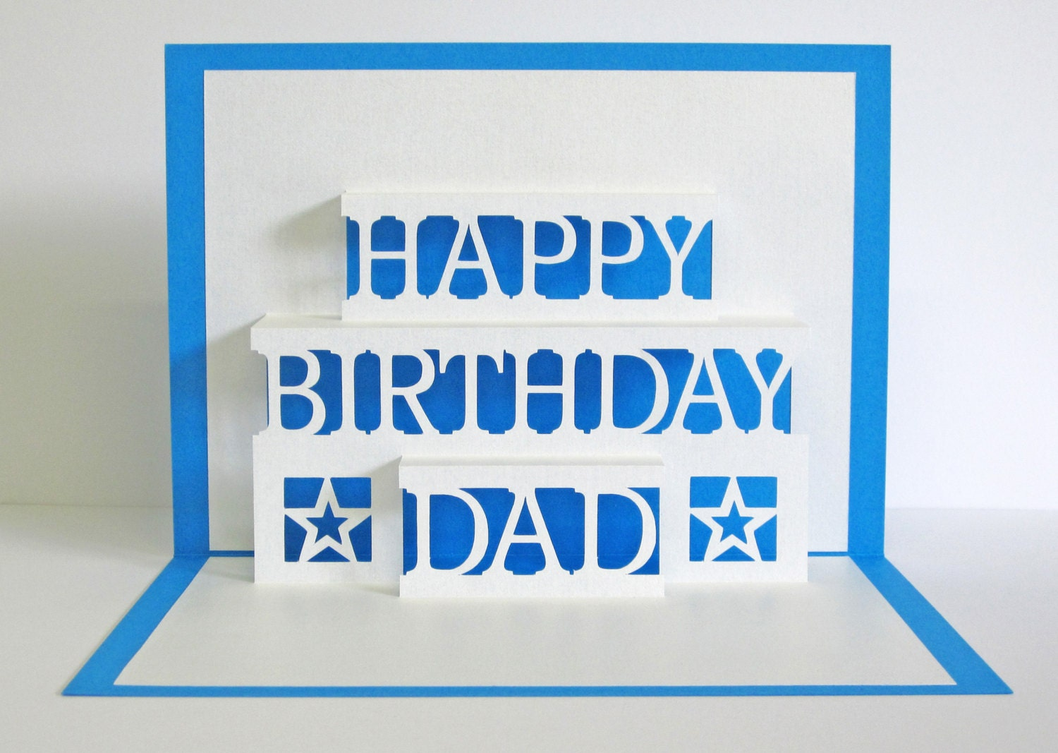 Papa geburtstagskarte 3d pop up happy birthday dad card for Pop up geburtstagskarte