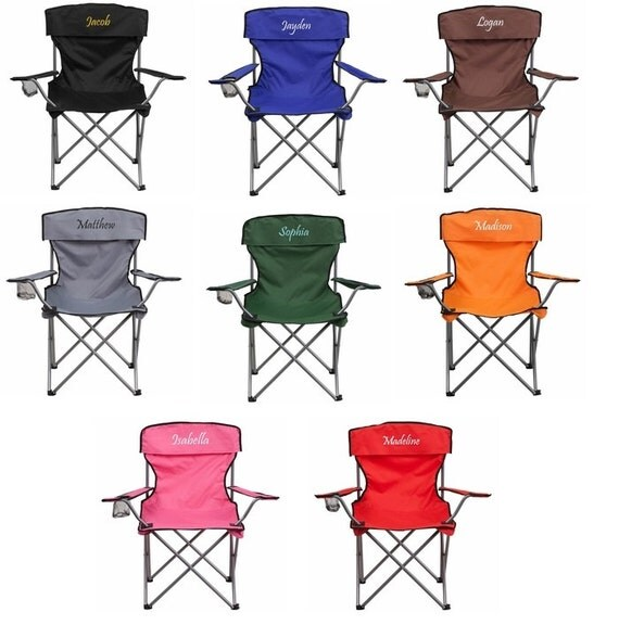 Personalized Folding Camping Chair With Cup by fyBumzShop