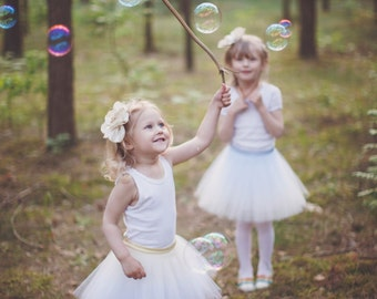 Mini Ballerina : girl  tulle skirt / girl tutu / flower girl skirt / children's tutu / flower girl dress /
