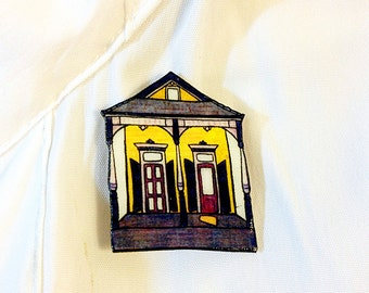 New Orleans Eastlake Shotgun in Purple and Gold – Laurel St. Pin