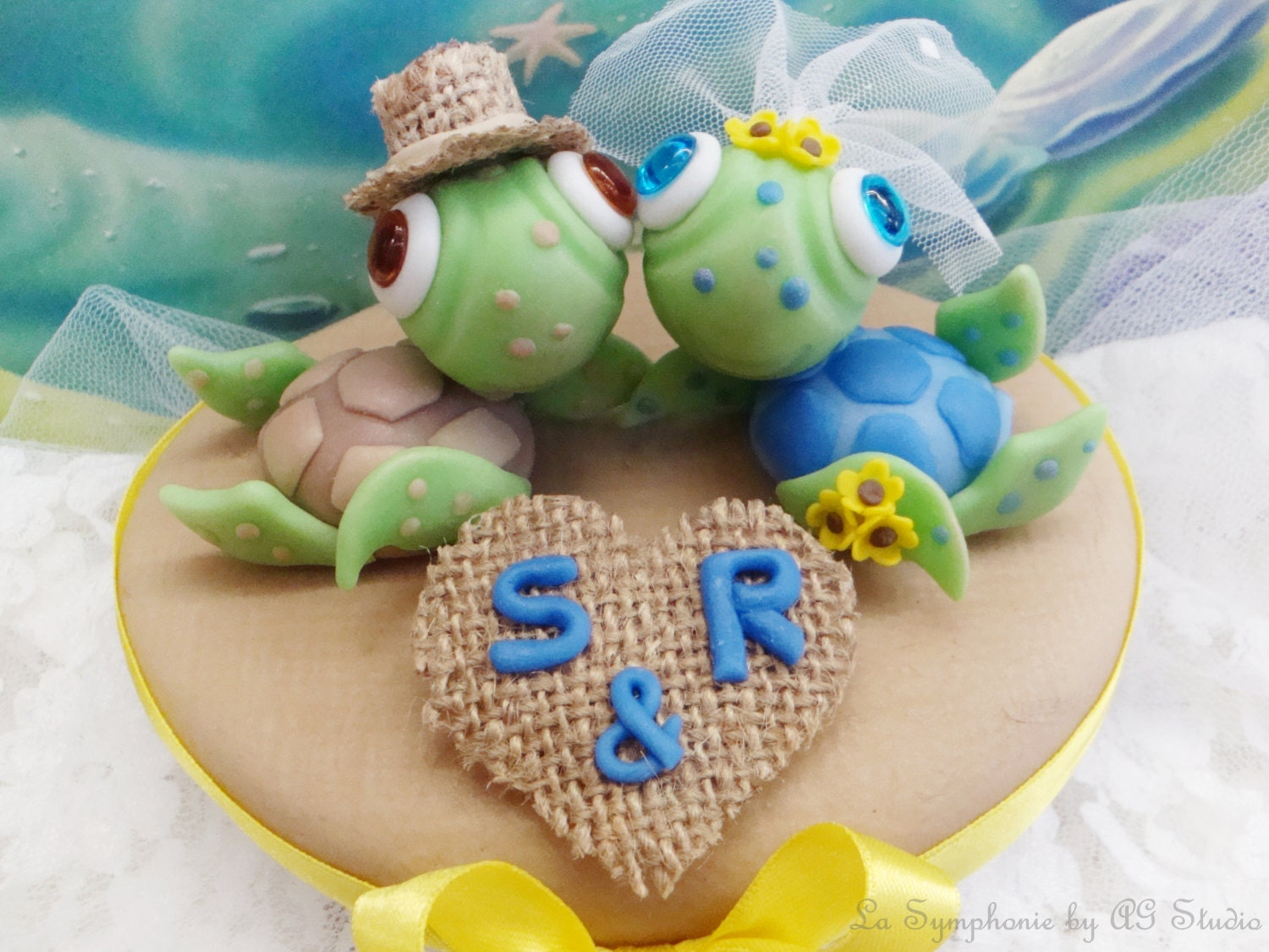 sea turtle wedding cake toppers lovely sea turtle wedding cake topper custom wedding cake 19730