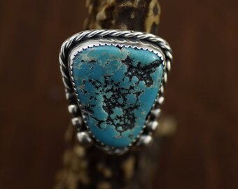 Unique Kingman Turquoise Ring Size 6