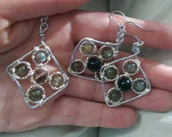 Labradorite earring and necklace set
