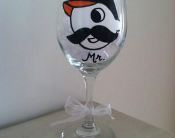 Mr. Natty Boh Oriole Wedding 20 oz Wine Glass