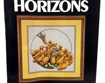 Vintage Crewel Embroidery Kit, All In The Family, Duck Embroidery, Monarch Horizons, Roger Reinardy, 1981 Crewel Kit, Nature Embroidery Kit
