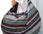 Nepali Fabric Design Hippie Shoulder Bag Gypsy Bag Boho Hobo Bag Tote Bag Crossbody Bag Diaper Bag Woven Cotton Handbag Purse (Yoko)