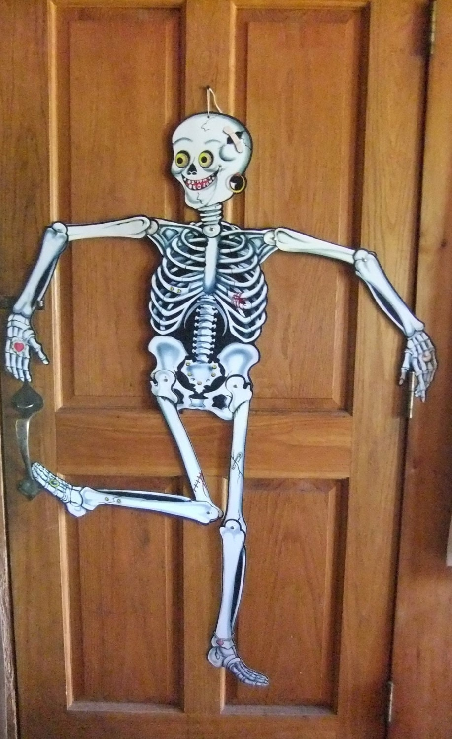 Vintage halloween paper decorations - Carrington Skeleton Halloween Jointed Wall Decoration 1980s Vintage Halloween Paper Decoration