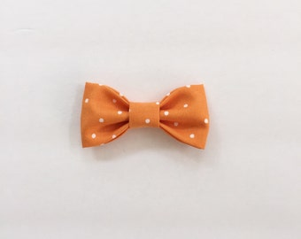 Orange & White Polka Dot // Bow Tie for Boy/Infant/Newborn // Hair Bow for Girls // Boys Bow Tie // Kids Bow Tie