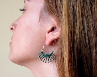 Bohemian Earrings - Gypsy Earrings - Hoop Earrings - Ethnic Earrings - Boho Chic Earrings - Gypsy Jewelry - Ethnic Jewelrty