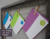 SALE -- Initial Notecards -- Set of 12 (4 each of 3 colors) // Monogram Notecards // Initial Notecards // Mix & Match Stationery