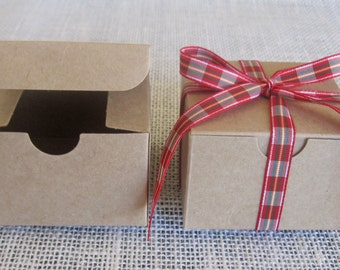 """Gift Boxes, 25 Paper Boxes, Party Favor Boxes, Kraft Boxes, Kraft Gift Boxes, Kraft Paper Box, Christmas Gift Boxes, Wedding Gift Box 3x3x2"""""""