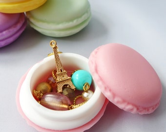French Macaron Stitch Markers Holder - Mini - Cute Storage for Knitters and Crocheters - Four Colors Available!