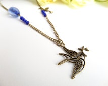 Peace Dove Necklace, Graduation Charms, Bird Necklace, Dove Gifts, Divergent Jewelry, Hummingbird Necklace, Dove Jewelry, Divergent Necklace