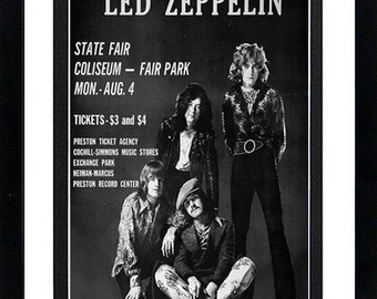 Led Zeppelin Concert Poster Framed