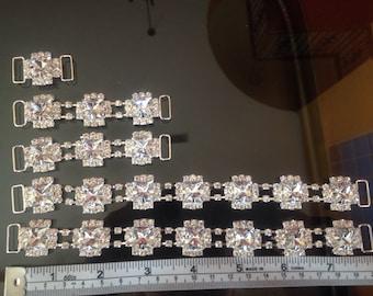Set of 5 Rhinestone Crystal Bikini Connectors