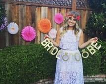 Bride to be engagemnt wedding shower bachlorette banner