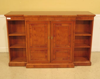 38368E: EJ VICTOR Yew Wood tv Entertainment Cabinet