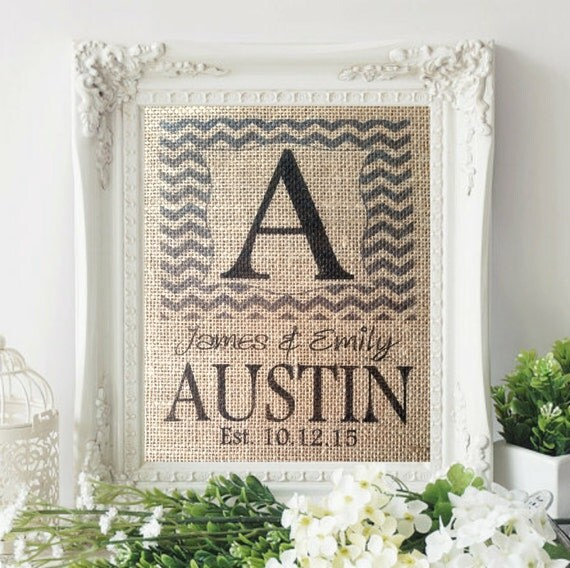 Monogrammed Wedding Gifts For Couple : Personalized Wedding Gift For Couple, Monogram Gift, Wedding ...