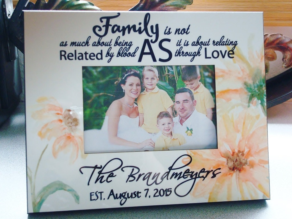 Wedding Gift Ideas Blended Family : Blended Family Wedding Gift Personalized Photo Frame 8