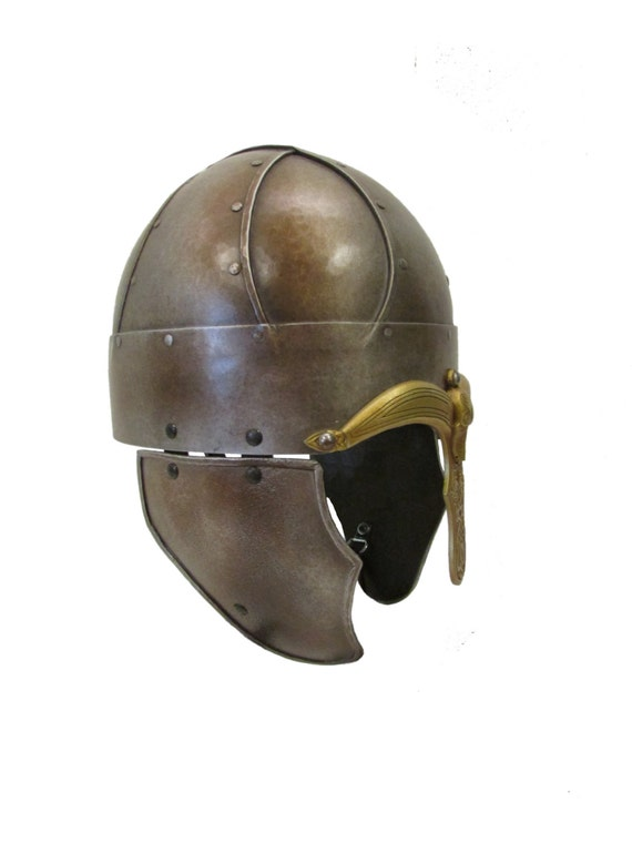 Larp Armor Wide Banded Spangenhelm saxon viking helmet