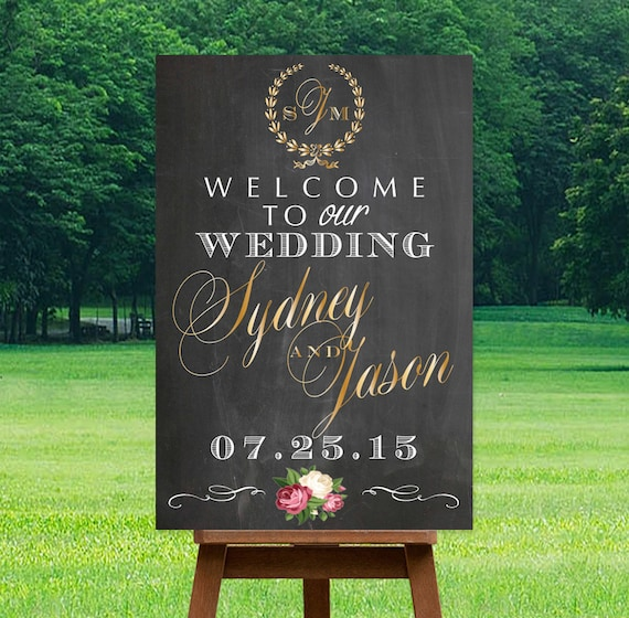 Wedding Welcome Sign Printable Personalized Sign By