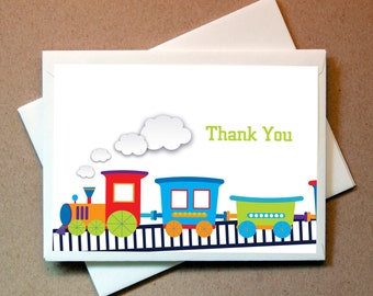 Choo Choo Train Thank You Cards (24 cards and envelopes)