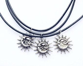 SILVER Lucia Choker or Necklace - Sun Moon Celestial