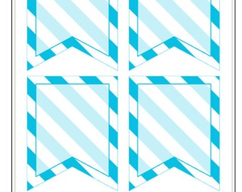 BF024- Stripe Flags- Blue