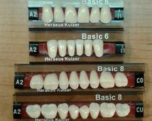 Full set upper and lower denture teeth, false teeth shade A2