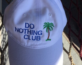 Do Nothing Club- White w/Jay Blue lettering