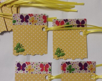 Wedding tags, Wedding Lables, Gift Tags, Gift Labels, Blank Tags, Blank Labels, yellow gift cards, baby shower gift tags, bridal gift tags