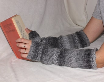 SALE Fingerless gloves, Arm warmers, Long fingerless gloves, Hand warmers, Knitted gloves