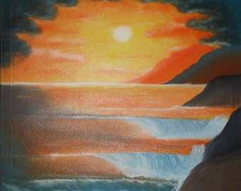 Ocean surf, painting on stretched canvas