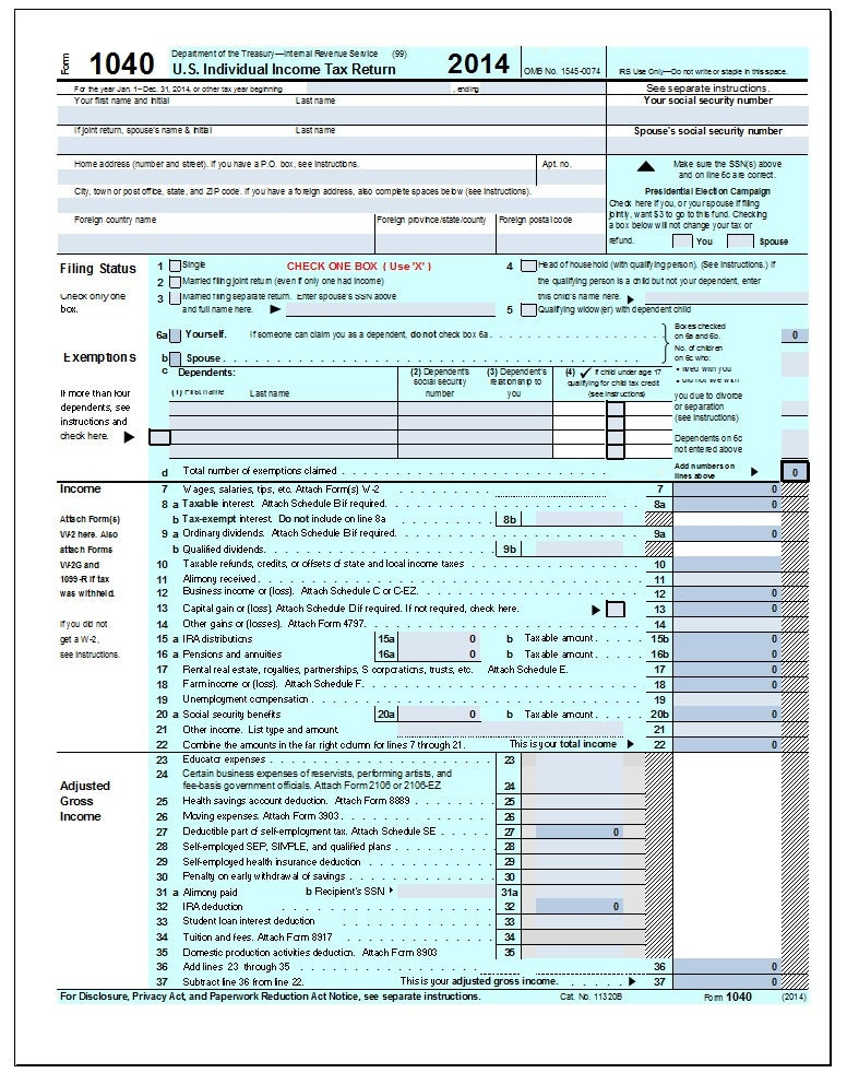 2014 irs tax forms 2014 income tax form 1040 excel for 1040a tax table 2013 pdf