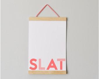 21cm (A4 Portrait) Hanging Slat Frame