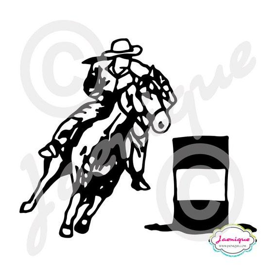 barrel racing decal - photo #44