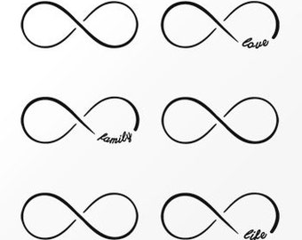 infinity temporary tattoo etsy de. Black Bedroom Furniture Sets. Home Design Ideas