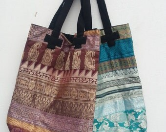 Tote Bag Design 2-  recycled sari braid, ethical production
