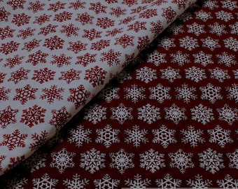 Fabric polyester cotton tapestry snowflake ice crystal