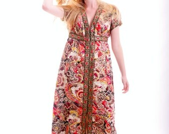 I Am Exotic Brocade Vintage Gown FREE US SHIPPING