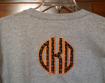 Girls/Womens Circle Monogram Shirt