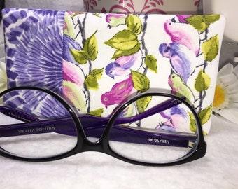 Purple Glasses Case, Eyeglass Case, Sunglasses Pouch, Slip Style, Sunglasses Case,