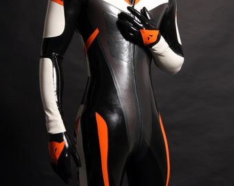 Racing Rubber Latex Suit Catsuit