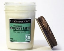 Bunny Farts Limited Edition Hand Poured Highly Scented Easter Soy Wax Candle